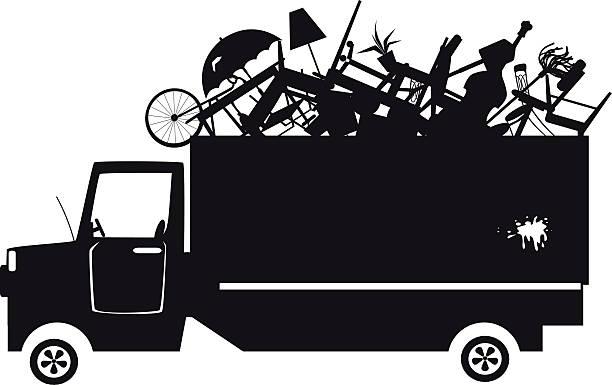 illustrazioni stock, clip art, cartoni animati e icone di tendenza di trash collection clip-art - obsoleto
