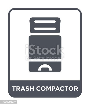 trash compactor icon vector on white background, trash compactor trendy filled icons from Electronic devices collection