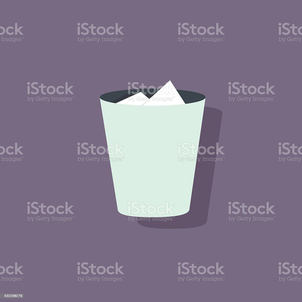 trash icon recycle bin flat design vector vector art illustration