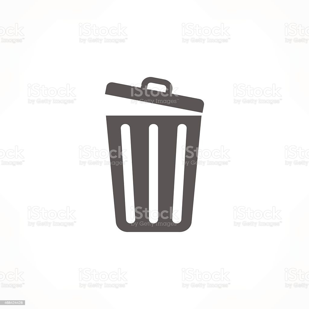 trash icon vector art illustration