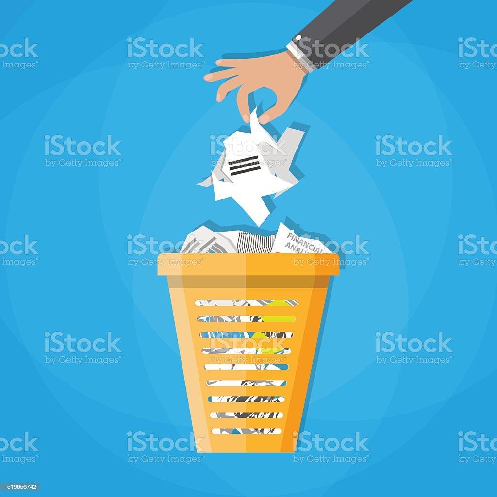 Trash Recycle Bin Garbage vector art illustration