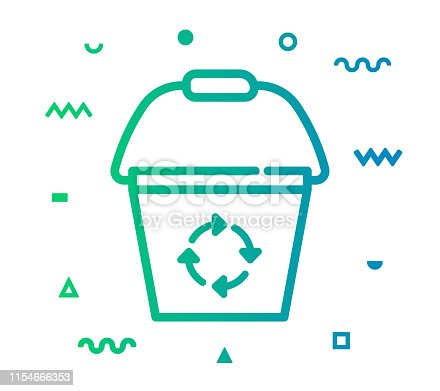 istock Trash Recycle Line Style Icon Design 1154666353