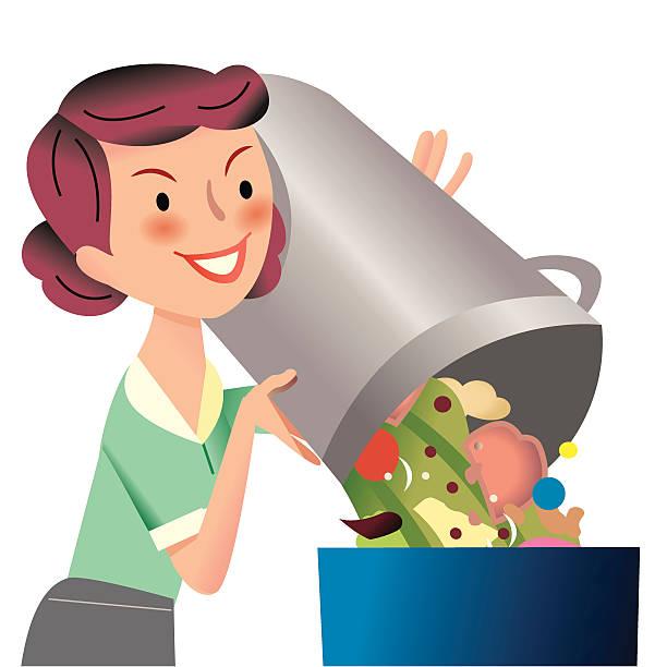 ilustraciones, imágenes clip art, dibujos animados e iconos de stock de de poner verde - leftovers