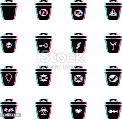 The vector files of trash icon set.