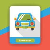 trasportation car flat icon