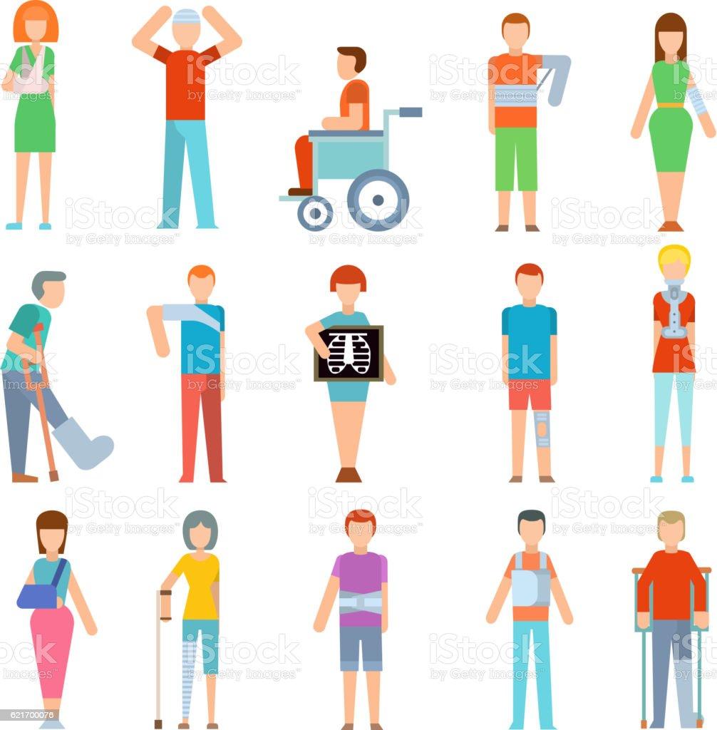 Trauma accident fracture human vector art illustration