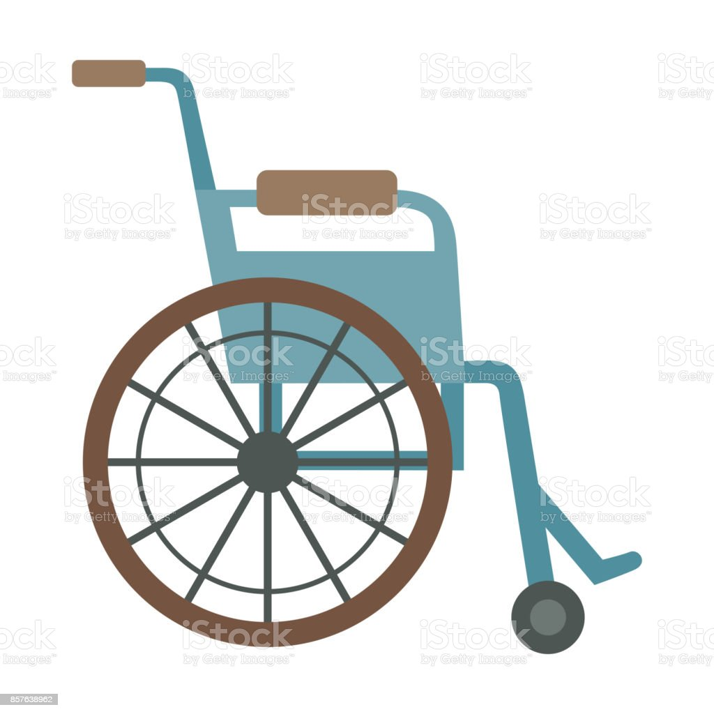 Trauma accident wheelchair safety vector silhouette cartoon flat style man health medical tool vector art illustration