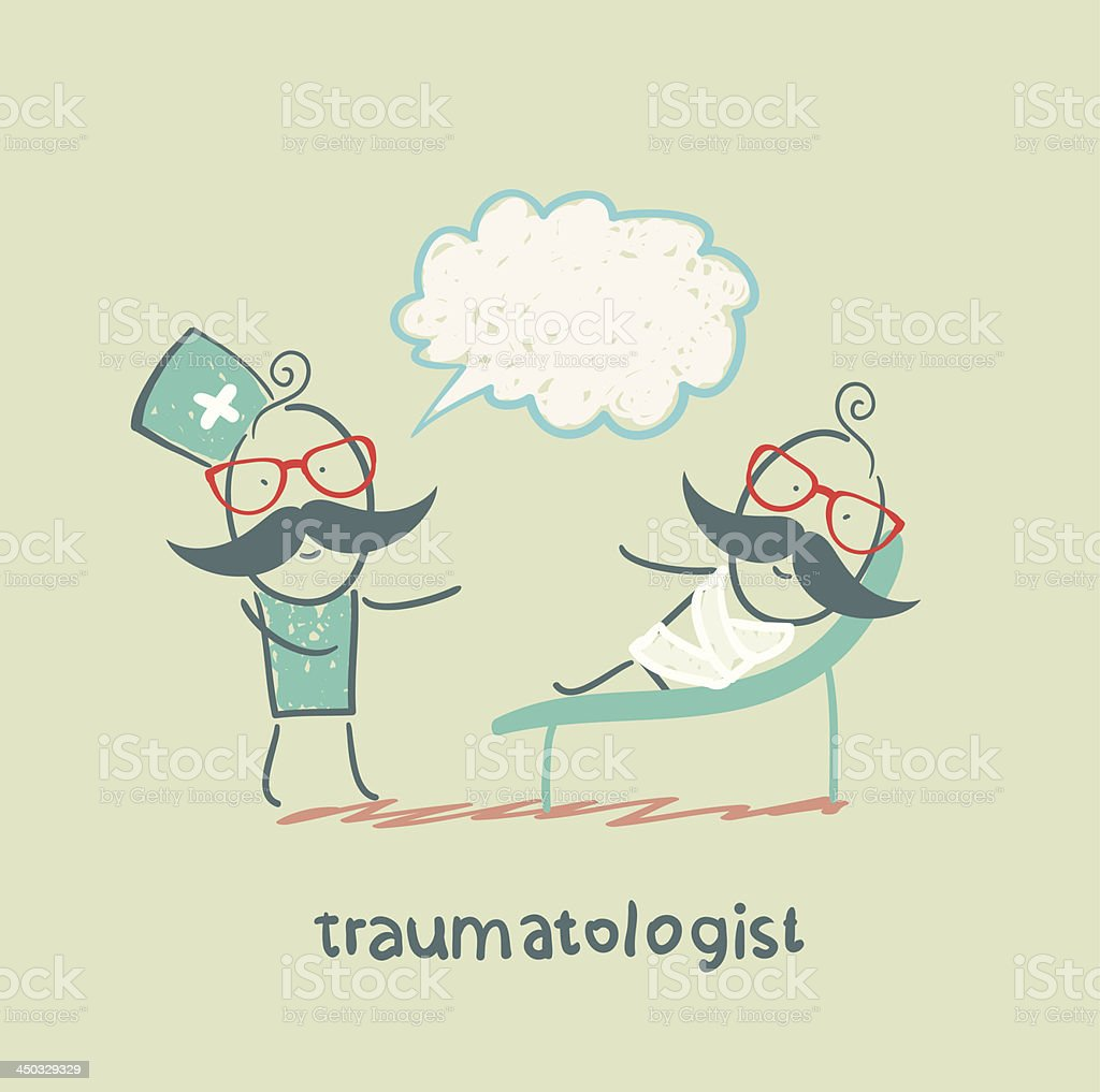 traumatologist royalty-free stock vector art