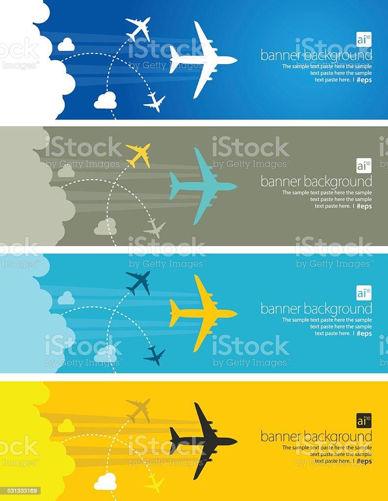 Travel abstract banner vector art illustration