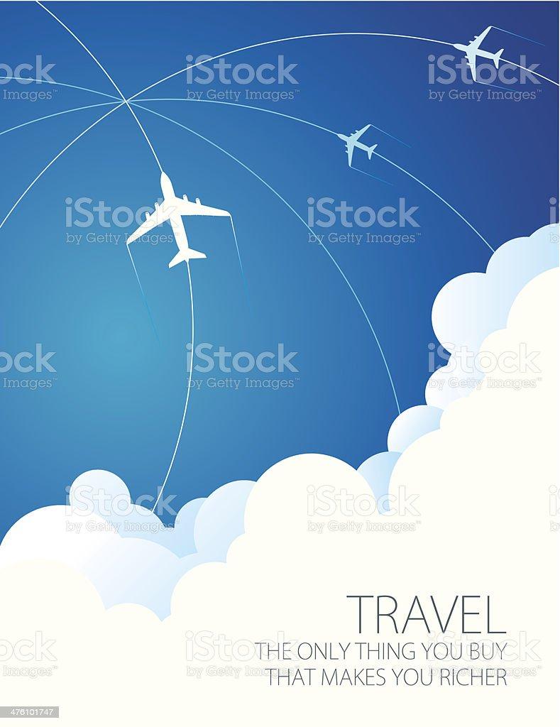 Travel abstract vector art illustration