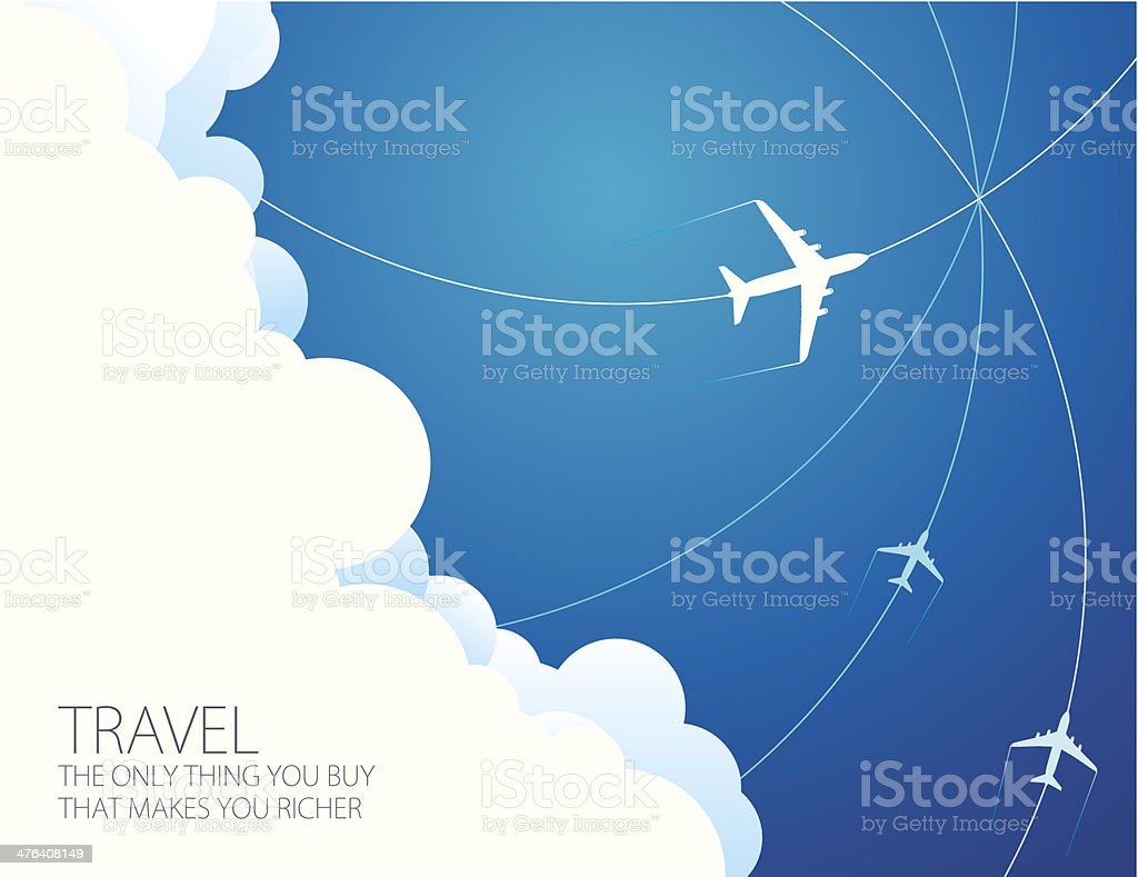 Travel abstract vector art illustration