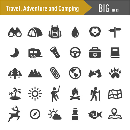 Travel, Adventure and Camping Icons - Big Series