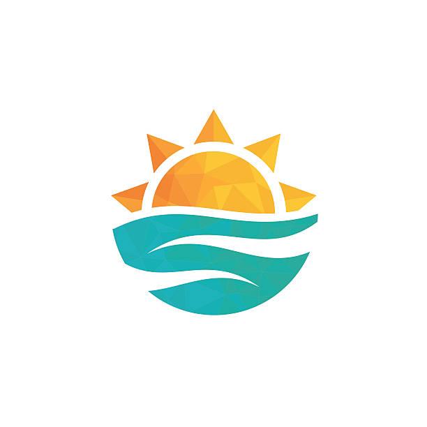 travel agency logo. - sunrise stock illustrations, clip art, cartoons, & icons