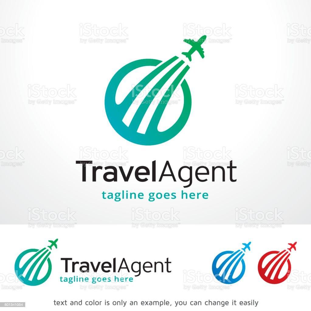 旅行代理店シンボル テンプレート デザイン ベクトル、エンブレム、デザイン コンセプト、創造的なシンボル アイコン ベクターアートイラスト