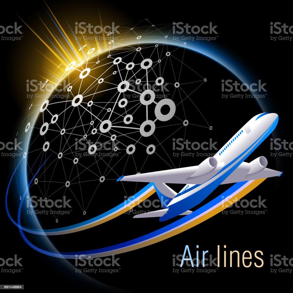 Travel aircraft. vector art illustration