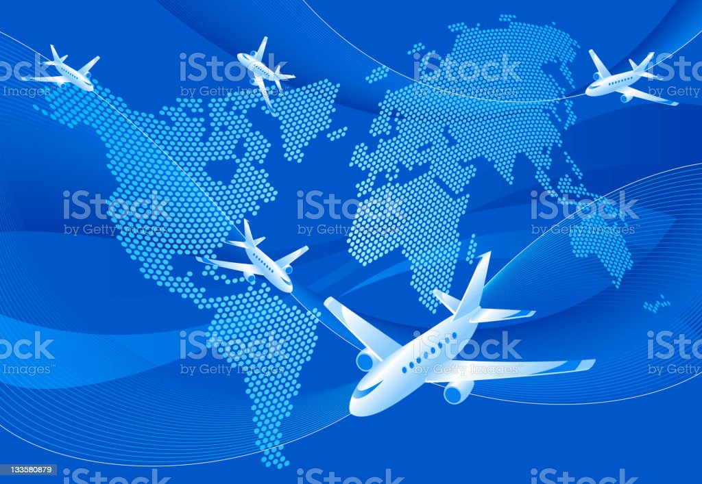 Travel airlines royalty-free stock vector art