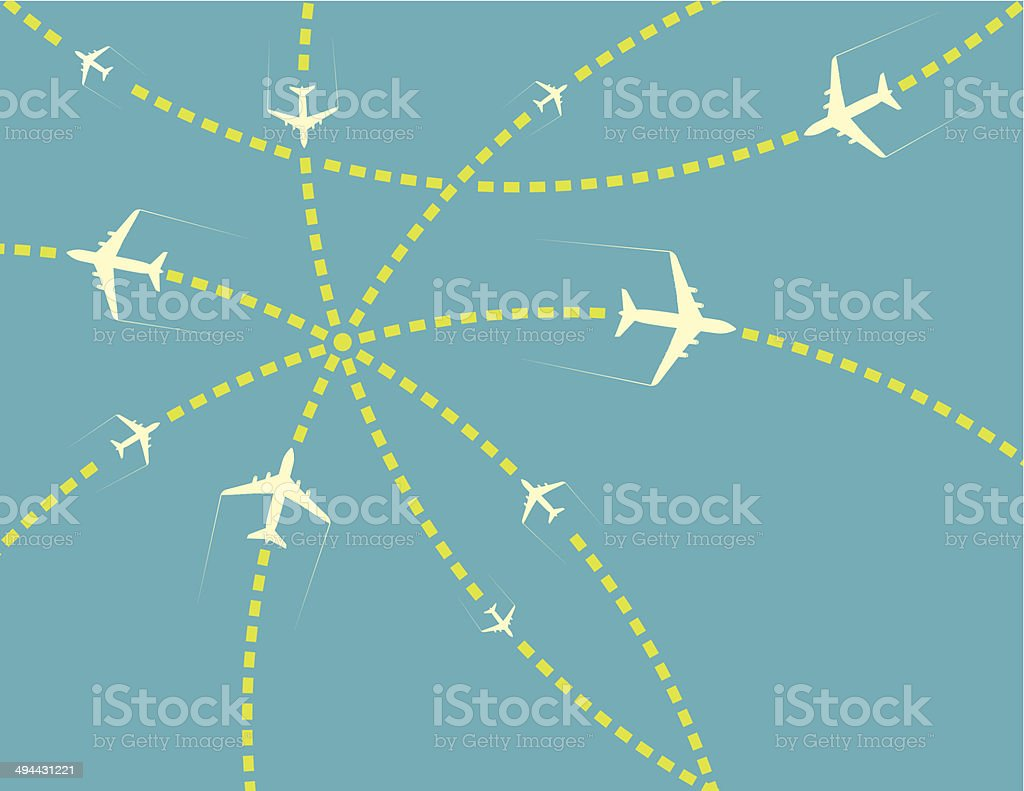 Travel airplanes royalty-free stock vector art