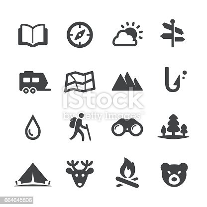 Travel and Camping Icons