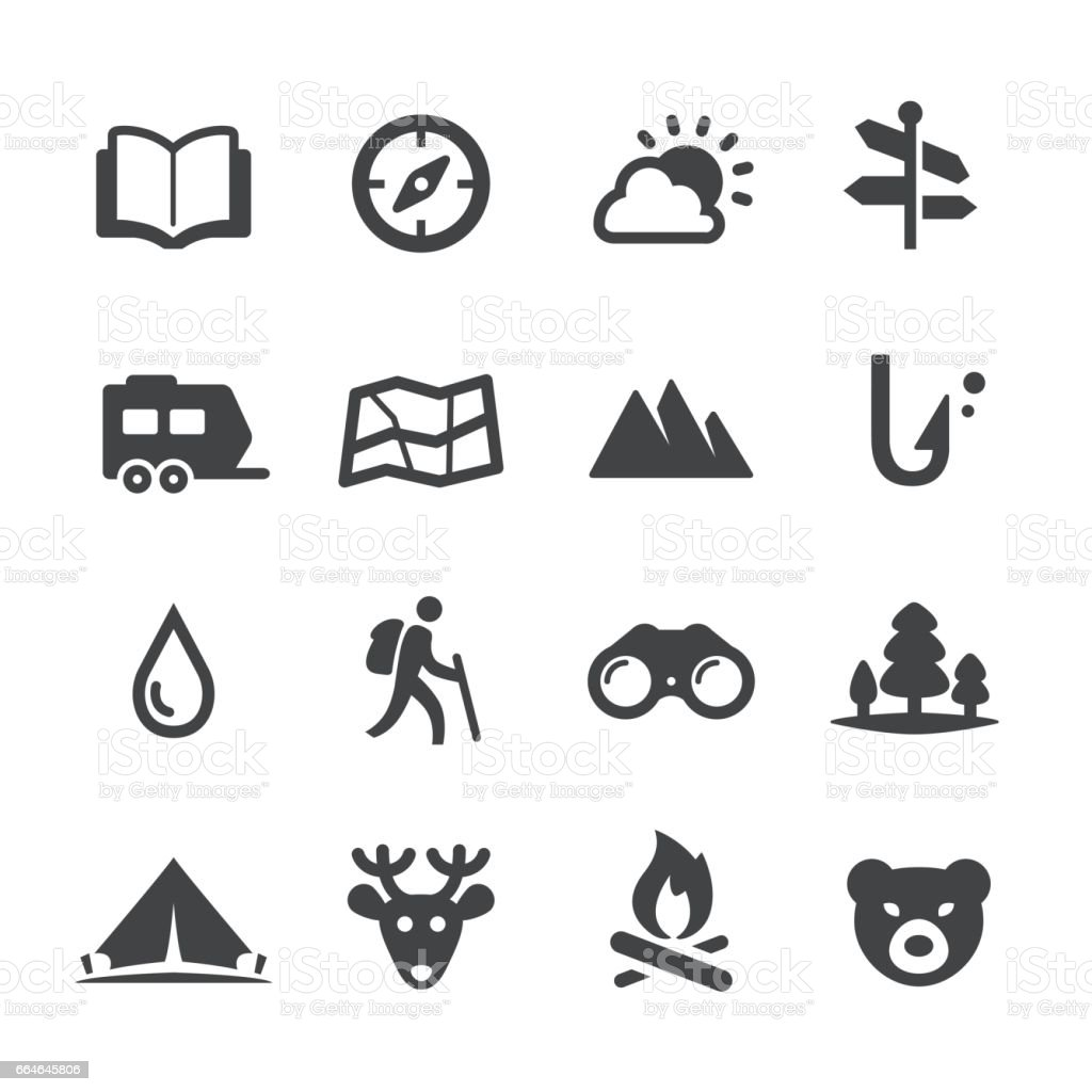 Travel and Camping Icons - Acme Series vector art illustration