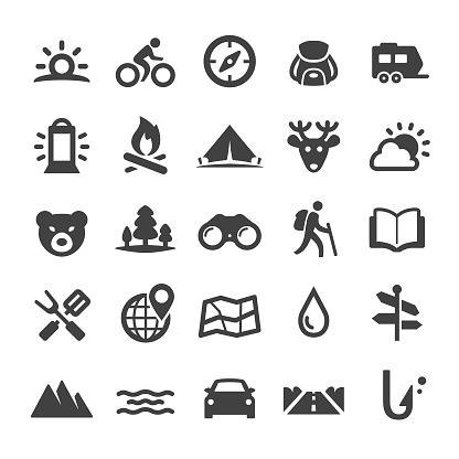 Travel and Camping Icons - Smart Series