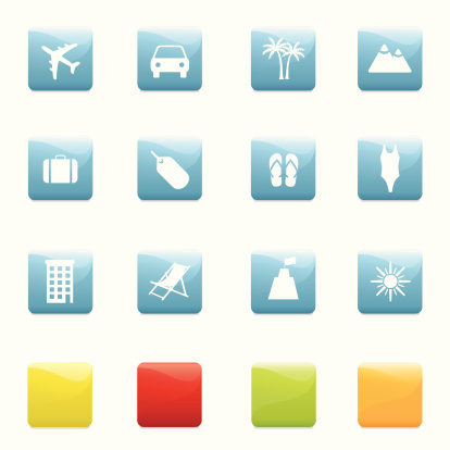 Travel And Holiday Icons Stock Illustration - Download Image Now