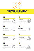 Travel and Holiday Infographic Design Template
