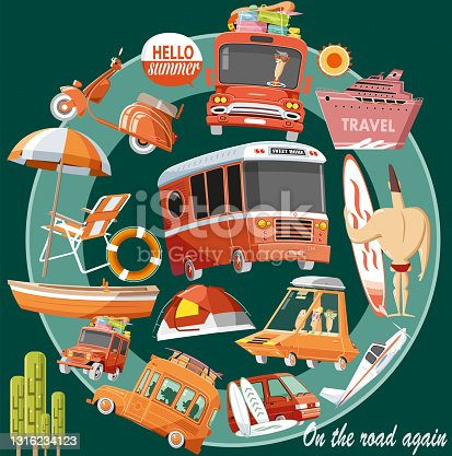 Travel and holiday vector illustration
