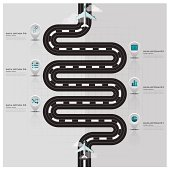 Travel And Journey Runway Business Infographic