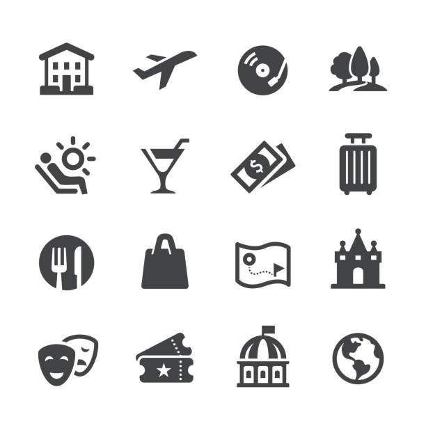 Travel and Leisure Icons - Acme Series Travel and Leisure Icons nightlife stock illustrations