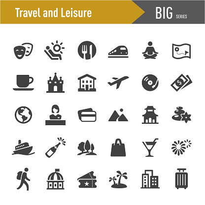 Travel and Leisure Icons - Big Series