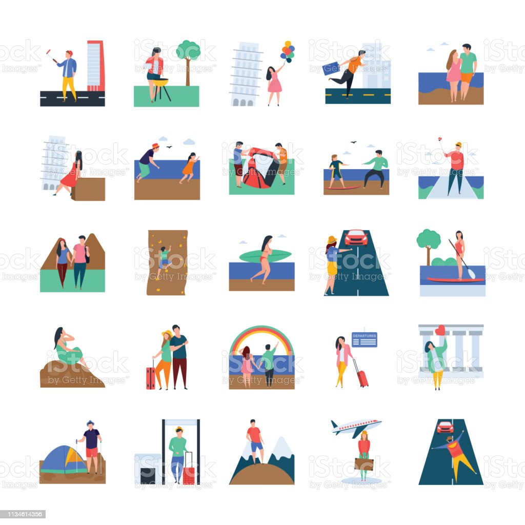 Travel and Picnic Illustrations