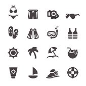 travel and summer beach icon set 3, vector eps10.