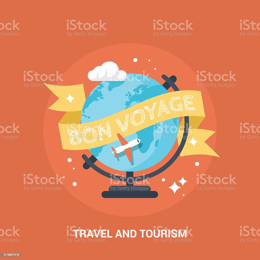 Travel and tourism flat modern icon and design vector art illustration