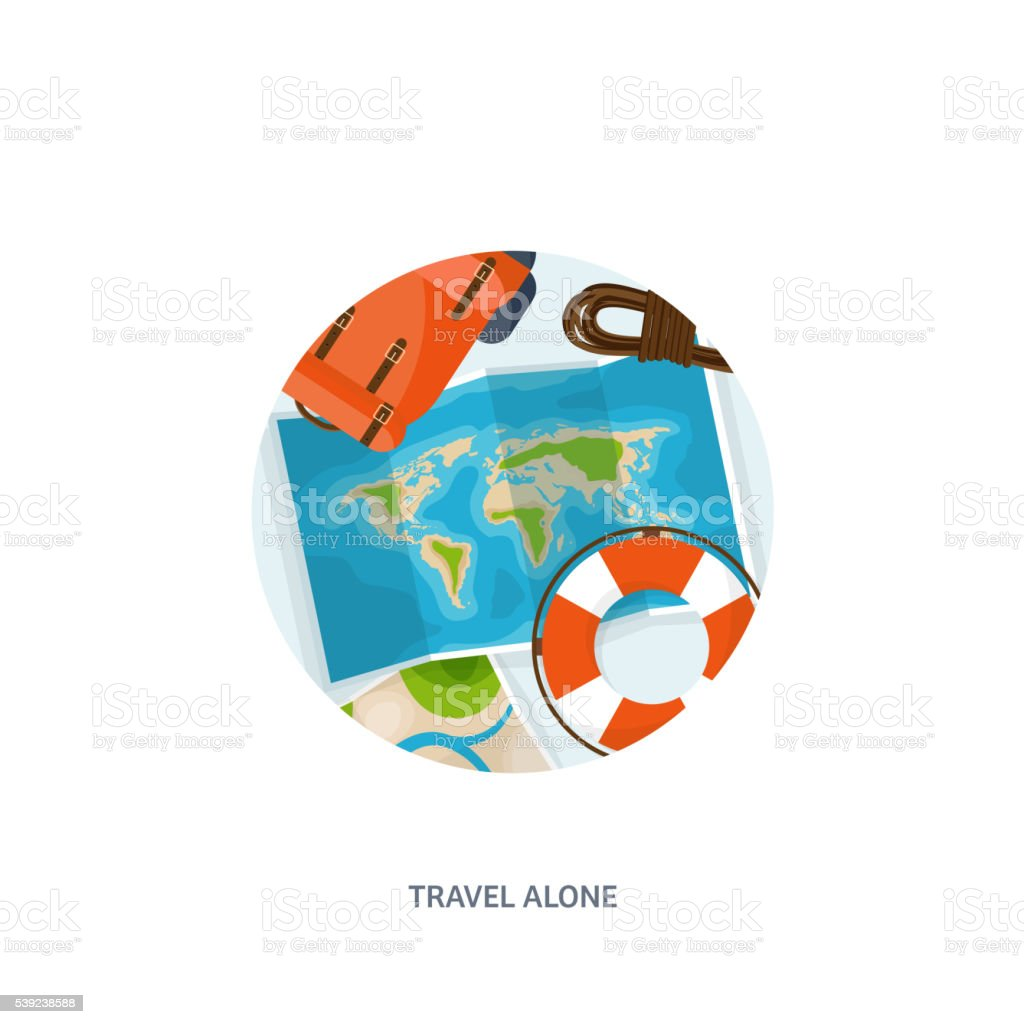 Viajes y turismo. Estilo plano. Mundo Mapa de la tierra. Mundo. Disparo ilustración de viajes y turismo estilo plano mundo mapa de la tierra mundo disparo y más banco de imágenes de aventura libre de derechos