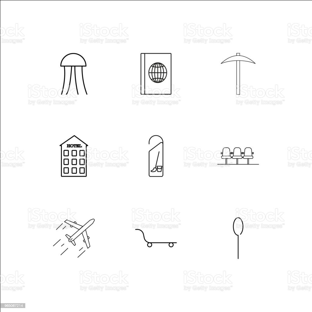 Travel And Tourism linear outline icons set royalty-free travel and tourism linear outline icons set stock vector art & more images of architecture