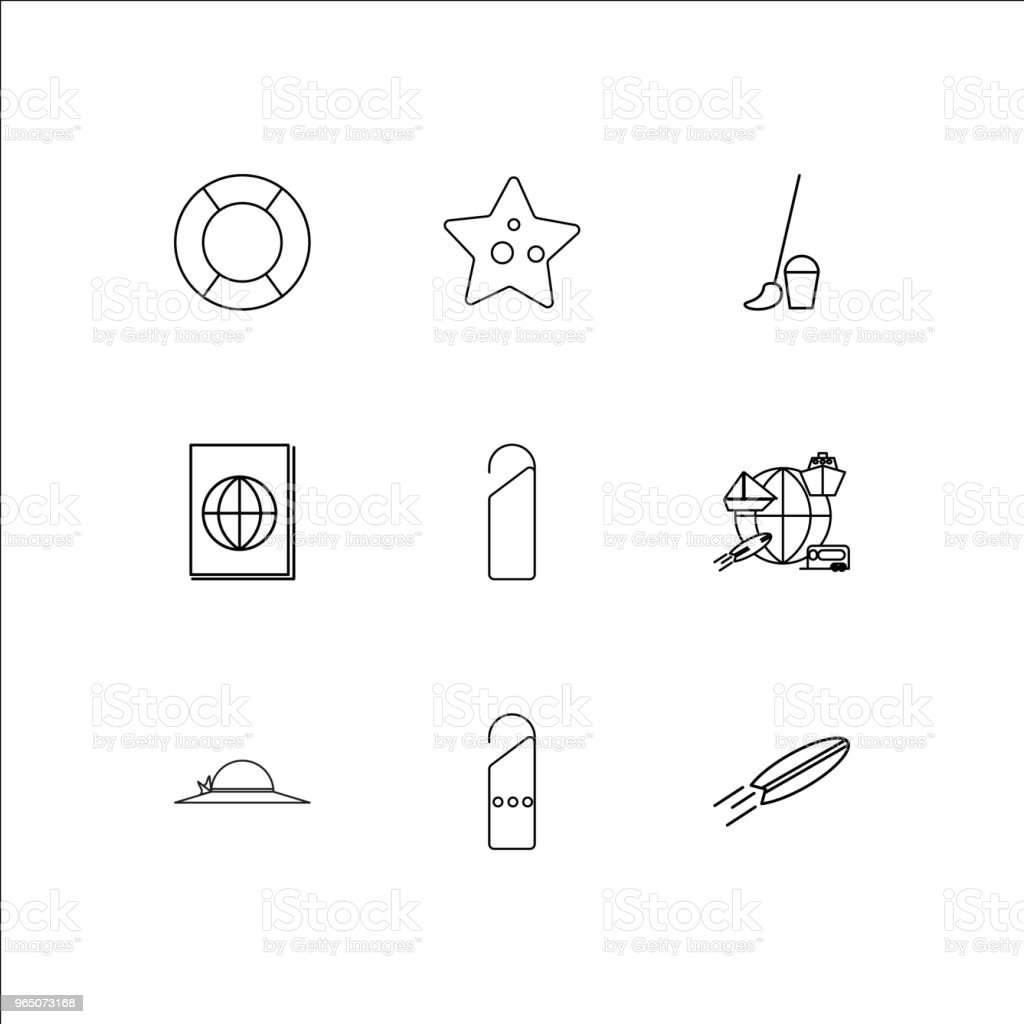 Travel And Tourism linear outline icons set royalty-free travel and tourism linear outline icons set stock vector art & more images of no people