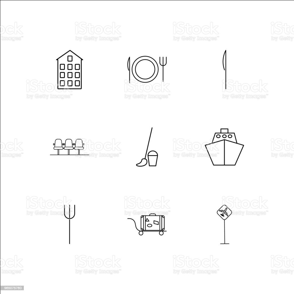 Travel And Tourism linear outline icons set royalty-free travel and tourism linear outline icons set stock vector art & more images of icon set