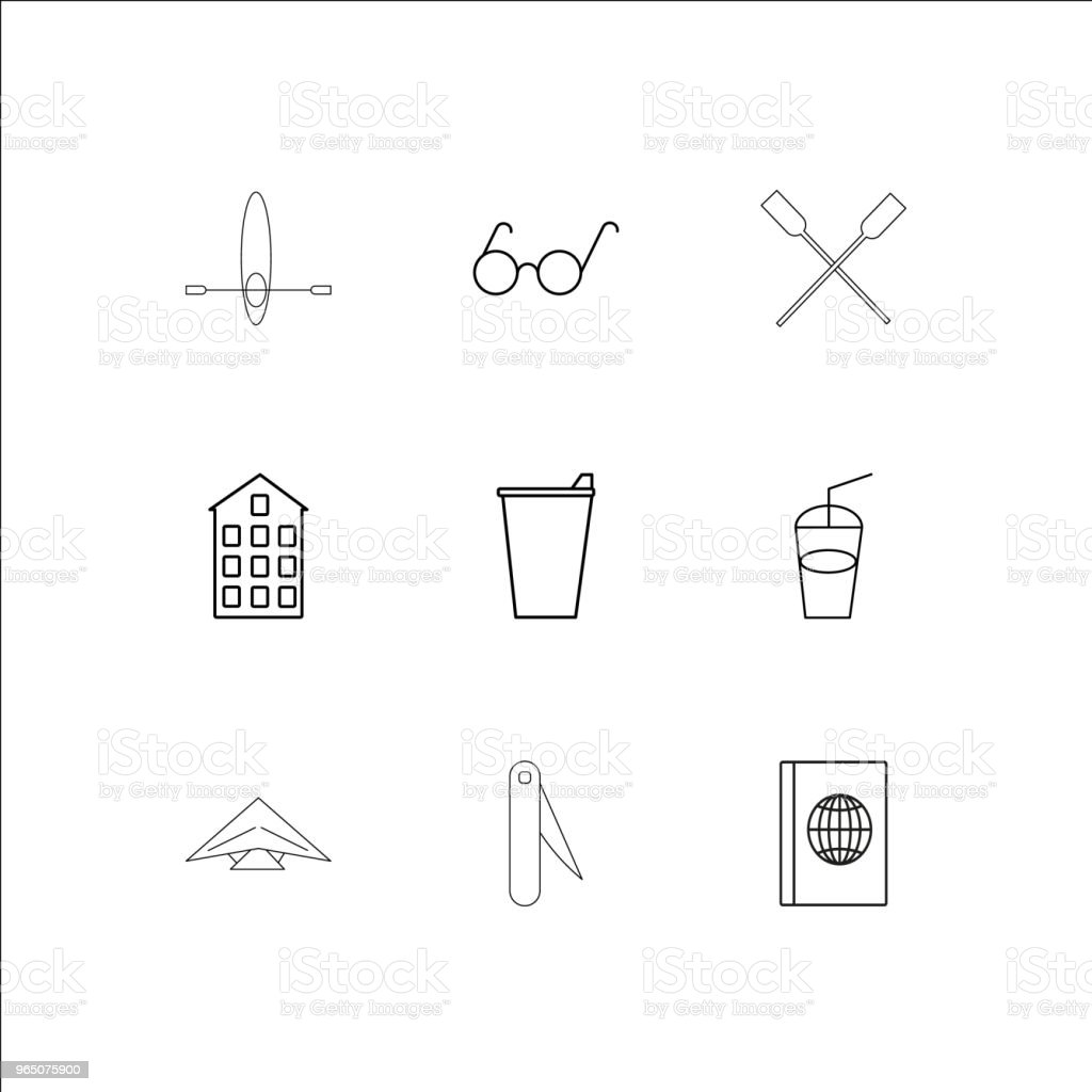 Travel And Tourism linear outline icons set royalty-free travel and tourism linear outline icons set stock vector art & more images of art