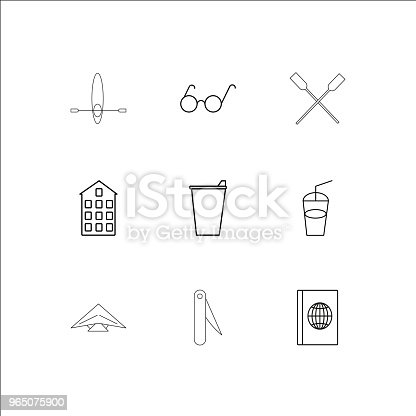 Travel And Tourism Linear Outline Icons Set Stock Vector Art & More Images of Art 965075900