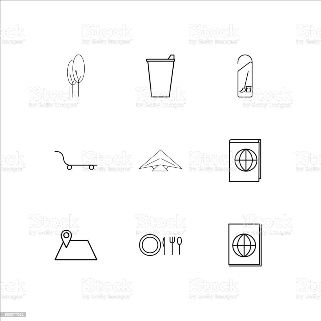 Travel And Tourism linear outline icons set royalty-free travel and tourism linear outline icons set stock vector art & more images of ajar