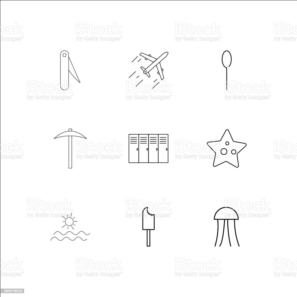 Travel And Tourism linear outline icons set royalty-free travel and tourism linear outline icons set stock vector art & more images of animal