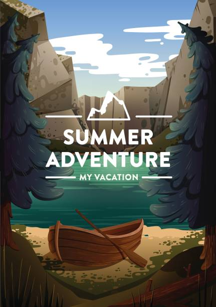 Reise- und Tourismus-Poster – Vektorgrafik