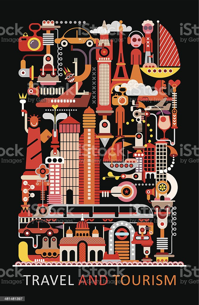Travel and Tourism vector art illustration