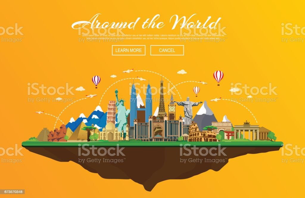 Travel and tourism vector illustration vector art illustration