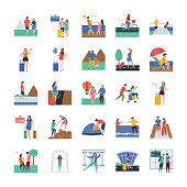 Travel and Tourists Illustrations
