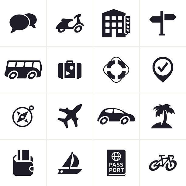 Travel and Transportation Icons vector art illustration