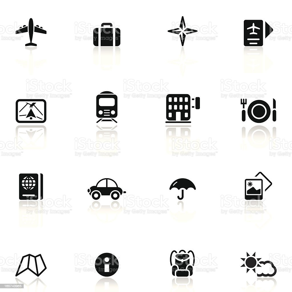 Travel and Vacation Icon Set 1/3 | Simple Collection royalty-free travel and vacation icon set 13 simple collection stock vector art & more images of advice
