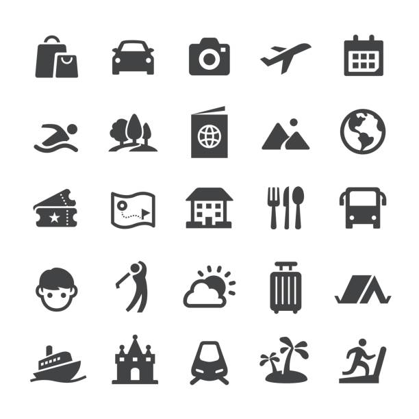 Travel and Vacation Icons - Smart Series vector art illustration
