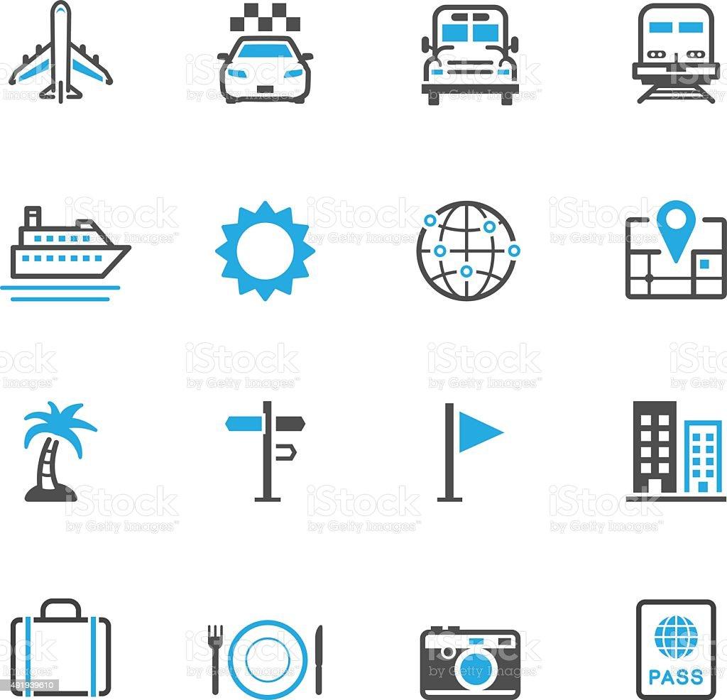 Icônes de voyage et de vacances - Illustration vectorielle