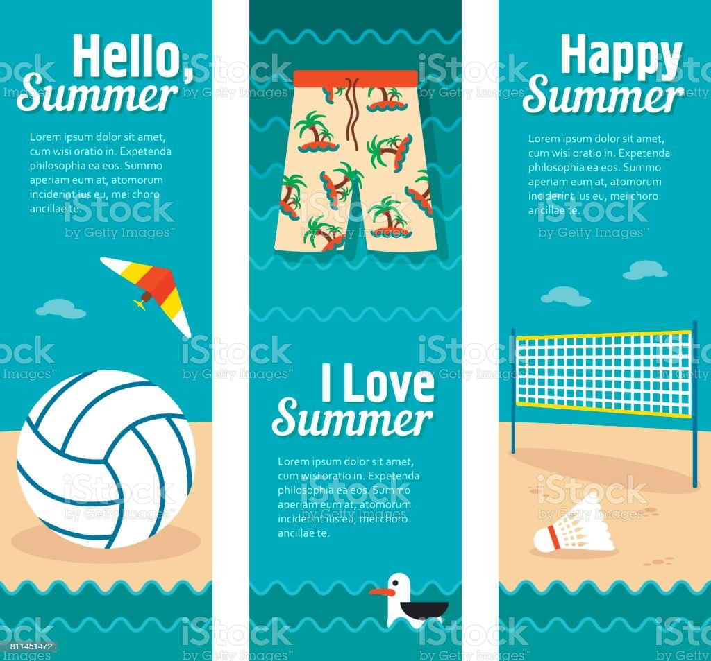 Travel and vacation vector banners vector art illustration